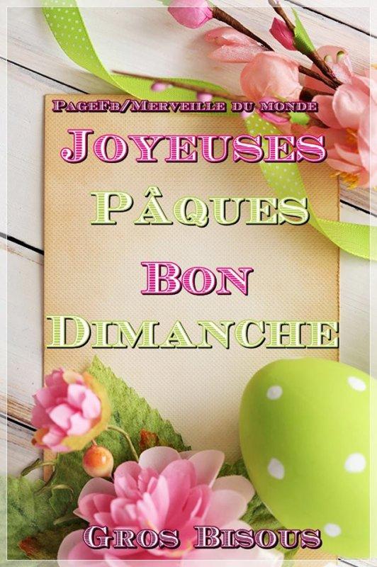JOYEUSES PÂQUES, BON DIMANCHE...