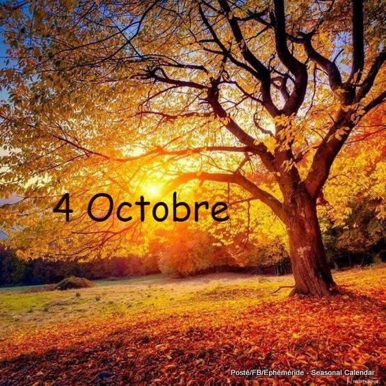JEUDI 4 OCTOBRE...