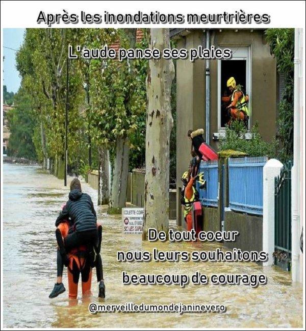 HOMMAGE AUX VICTIMES DES INONDATIONS DE L'AUDE...