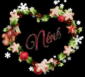 """KDOS SIGNATURES POUR VOUS """"coeur_couronnenoel"""" ♥ M N ♥ 18/23"""