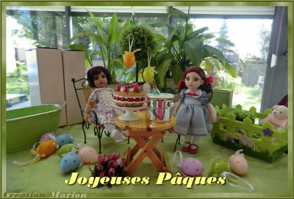 Fancy (la brune) et Patsy (la rousse), poupées Effanbee vous souhaitent, unies à moi, de JOYEUSES PÂQUES !! 3/3