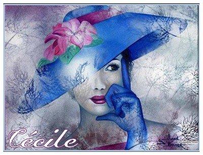 SUR DEMANDE ♥ guichard_bunel_femmechapeaubleu