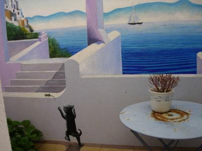 suite du trompe l 39 oeil vu de ma cuisine mes aquarelles et le reste. Black Bedroom Furniture Sets. Home Design Ideas