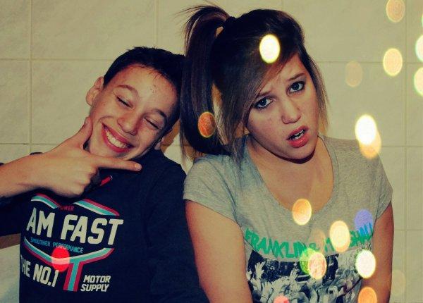 Bref j'ai fais des photos avec ma souer :)