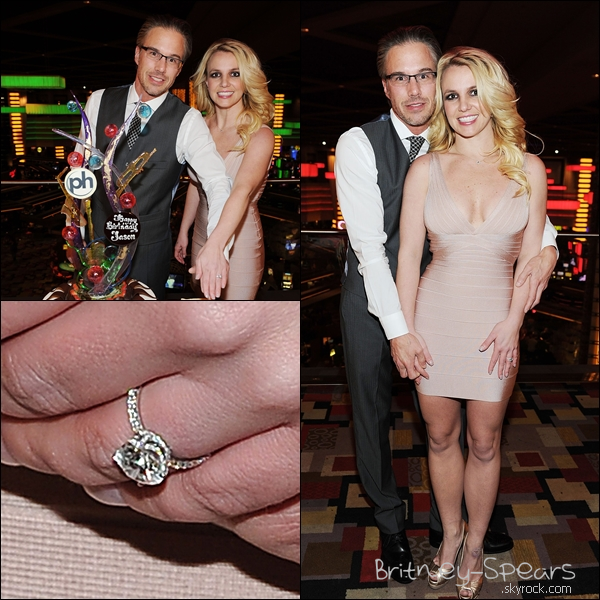 Le 16 Décembre 2011:       Britney et Jason Célèbrent leurs fiancailles et l'anniversaire de Jason à Las Vegas.