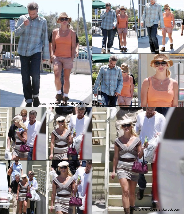 23/07/10 : Britney s'est rendue en  compagnie de Jason chez «Starbucks»  dans Calabasas (Los Angeles) .    24/07/10 : Britney quittant la galerie d'art « Michaels Arts and Crafts  » toute souriante, à Santa Barbara .