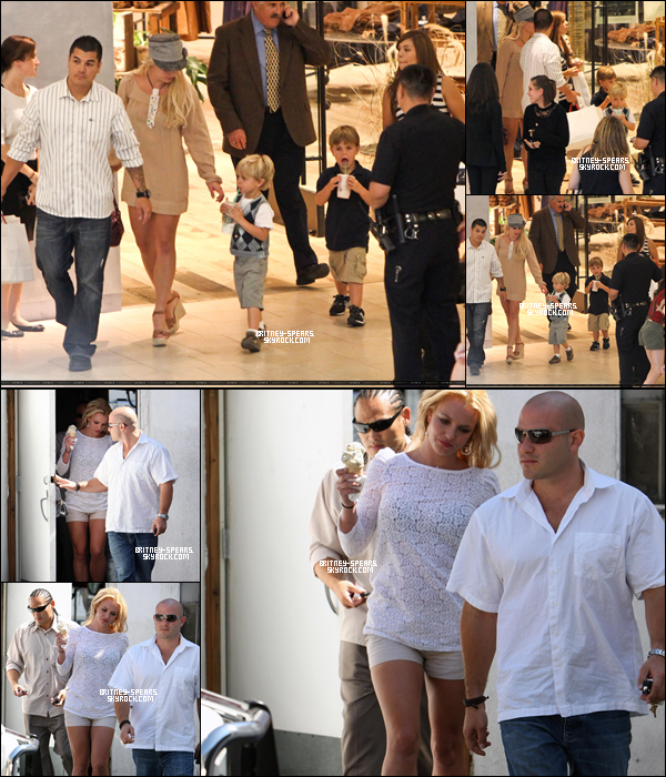 11/O9/1O: Britney ,Jayden James et Sean Preston  sont allé fêter l'anniversaire ce dernier à Disneyland. 16/O9/1O: Brit a emmené ses fils faire du shopping à westfield Toponga mal à Los Angeles(Calfornie) 17/O9/1O: Brit est allé manger une glace avent de se rendre au studio d'enregistrement à Studio City .