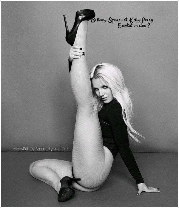 Britney Spears et Katy Perry : Bientôt en duo ?     Britney  pourrait faire appel à Katy Perry pour un prochain duo. Katy devrait remixer son dernier single, I Wanna Go,  Katy Perry pourrait ajouter sa voix sur le titre, selon Popheart. Les deux chanteuses pourraient donc bientôt proposer un duo pour la première fois. Après Rihanna sur le remix de S&M et Nicki Minaj et Kesha sur le remix de Till The World Ends, c'est donc Katy Perry qui devrait être la nouvelle collaboration de Britney.   Britney dit bye a Jive records !     Malgré les nombreuses rumeurs, depuis de longues années, Britney va bel et bien quitter sa maison de disque, Jive Records, qui l'a propulsé au devant de la scène depuis ses débuts en 1998 avec son tube Baby One More Time. C'est donc décidé, Britney quitte Jive pour la maison de disque RCA Records. Le changement ce fera dès la fin de sa tournée Femme Fatale Tour.