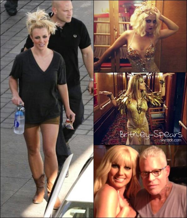 Le 10  Aout 2012,       Britney quittant le tournage du parfum Fantasy Twist + Des photos du tournage .