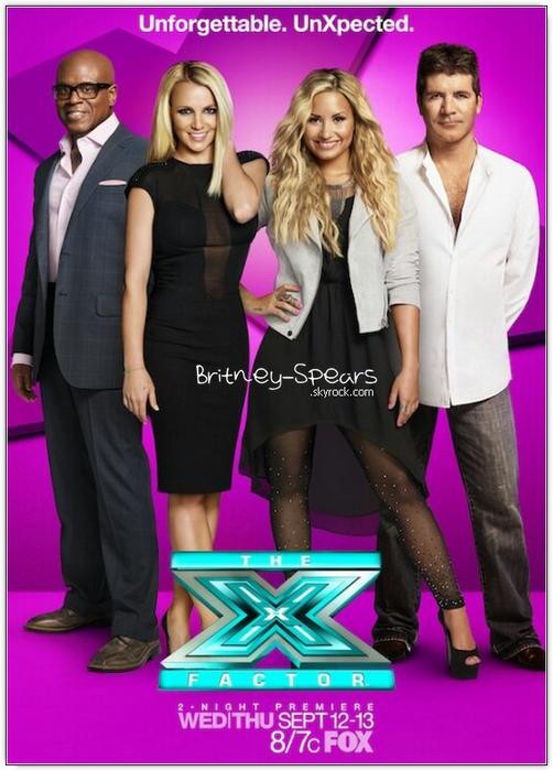 Une nouvelle affiche promotionnelle d'X Factor  + des vidéos ou l'on voit Britney auditionner .