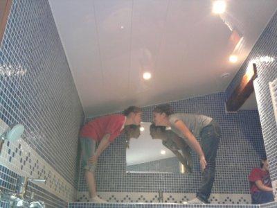 séance photo dans la salla de bain!
