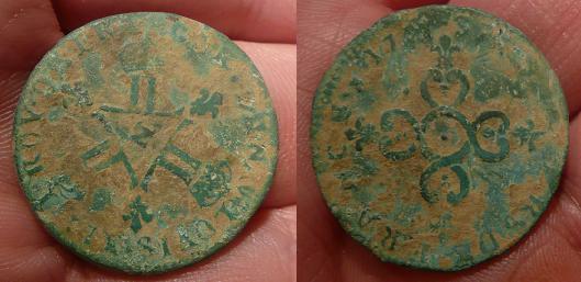 6 deniers Dardennes 1711 N Montpellier