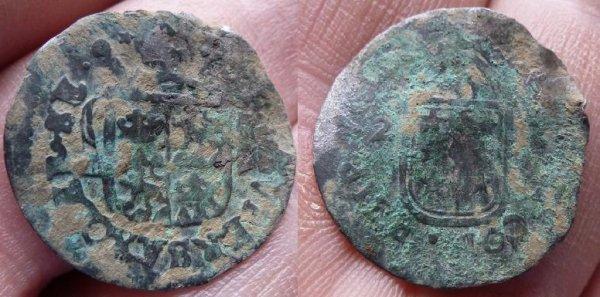 1/2 Batz de l'éveché de SION ( SUISSE) de 1722 en billon