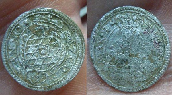 1 kreuzer de 1700 de Bavière Maximilien II Emanuel