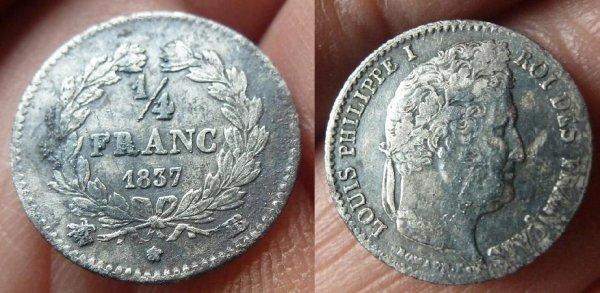 1/4 f 1837 BB Louis Philippe  9 738 ex