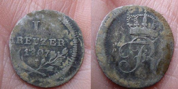 1 kreuzer 1807 Wurtemberg ( Allemagne)