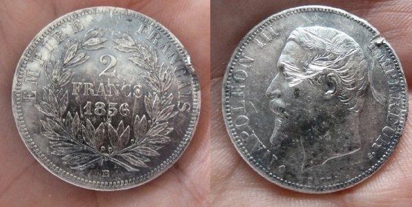 2 F Napoléon III 1856 BB