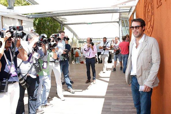 Nicolas Bedos à Roland Garros le 6 Juin 2015.
