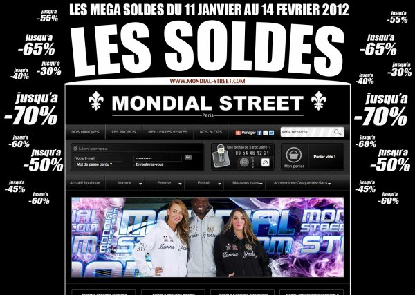 LES MEGA SOLDES 2012 SUR WWW.MONDIAL-STREET.COM