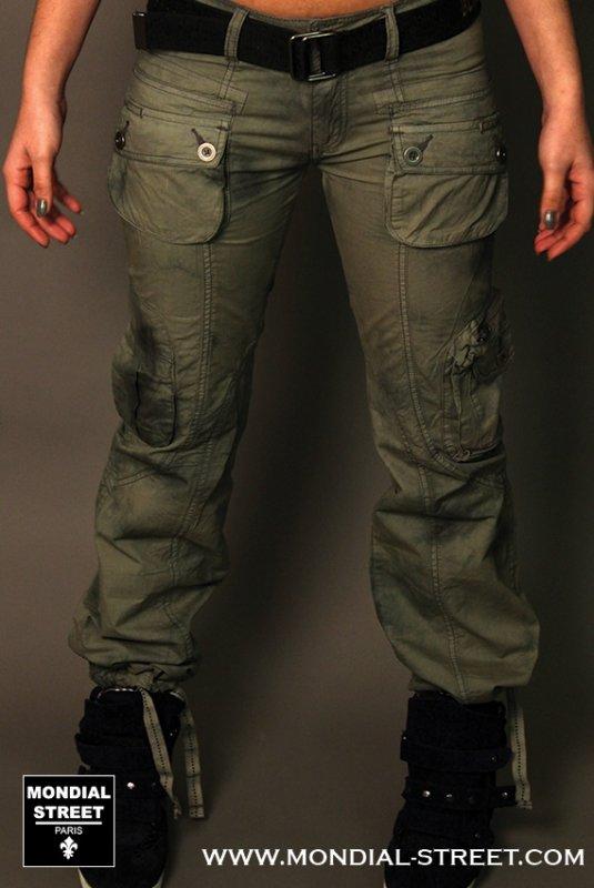 Pantalon cargo Black de la Rosa sur www.Mondial-Street.com