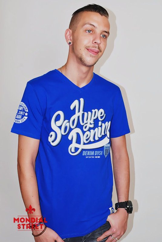 T-shirt Sohype denim sur www.Mondial-Street.com