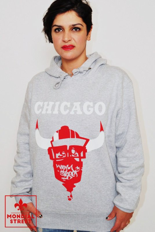 "Sweatshirt ""Chicago Bulls"" by Marvin Street sur www.Mondial-Street.com"