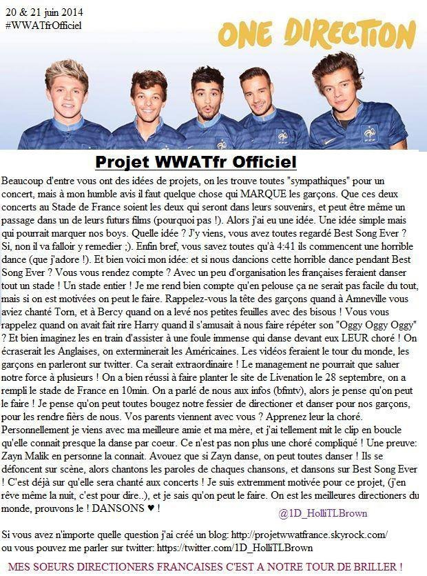 - Where We Are Tour Projets ! ♥