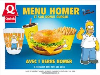 Le menu Homer actuellement chez Quick !
