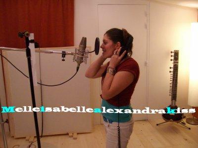 Isabelle  Alexandra en studio