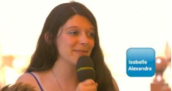ISABELLE ALEXANDRA sur le plateau de l'émission midi en france