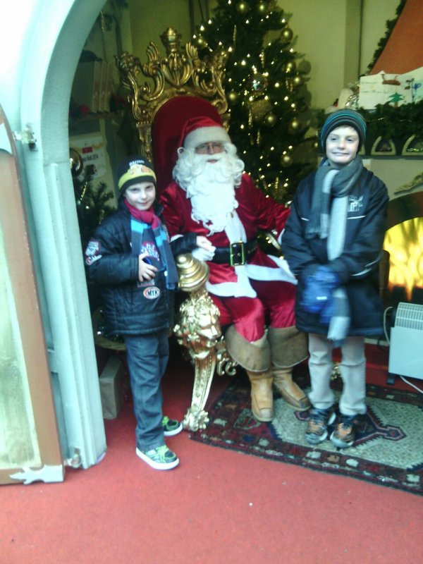 A Noël l année dernier mes 2 fils