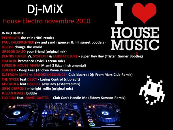 DJ-MIX HOUSE ELECTRO NOVEMBRE 2010