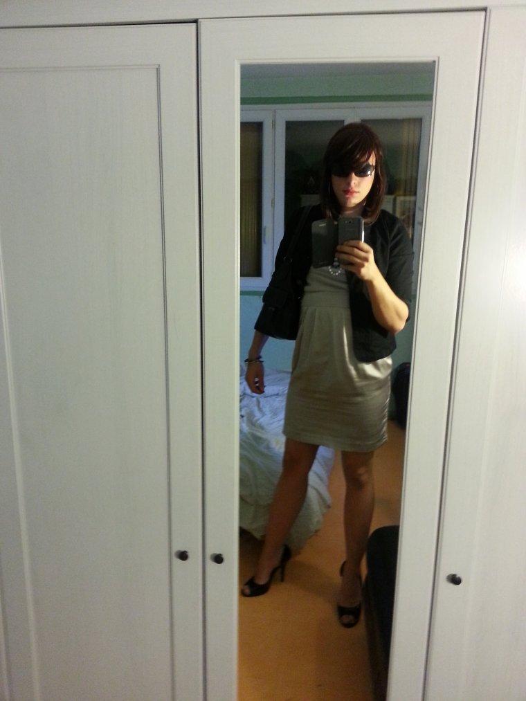 Petite robe grise