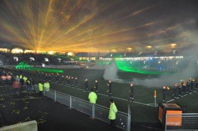 prestation du BSPM au stade du Moustoir à Lorient
