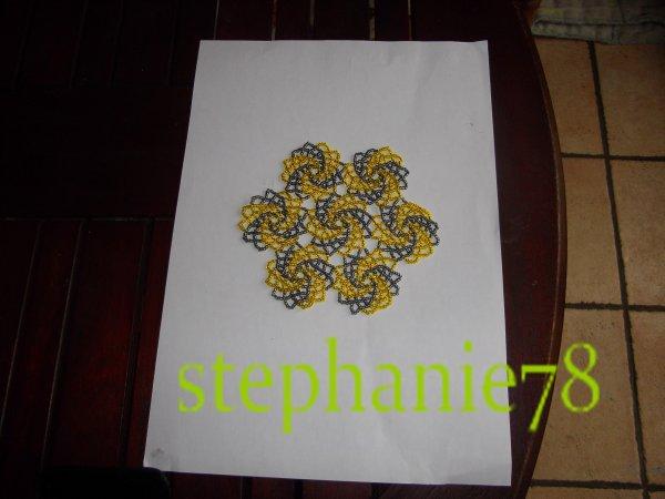 tissage de napperrons  spirale