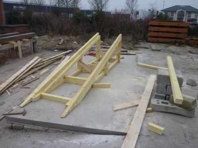rampe en bois pour brouette btp afpa 62100. Black Bedroom Furniture Sets. Home Design Ideas