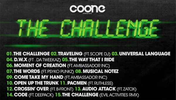 * * *   Official tracklist of The Challenge Album   * * *