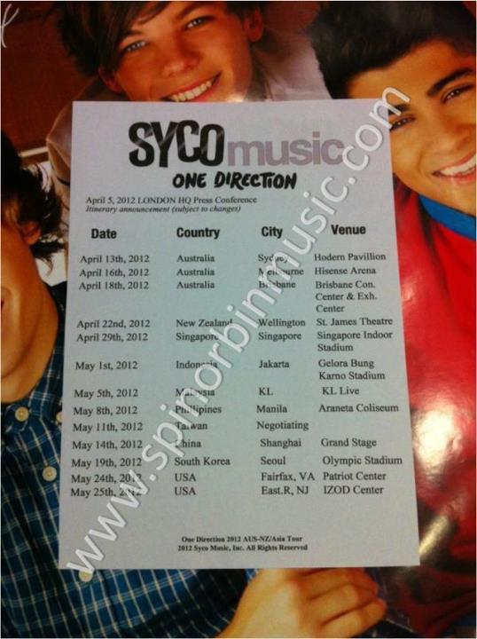 concert date