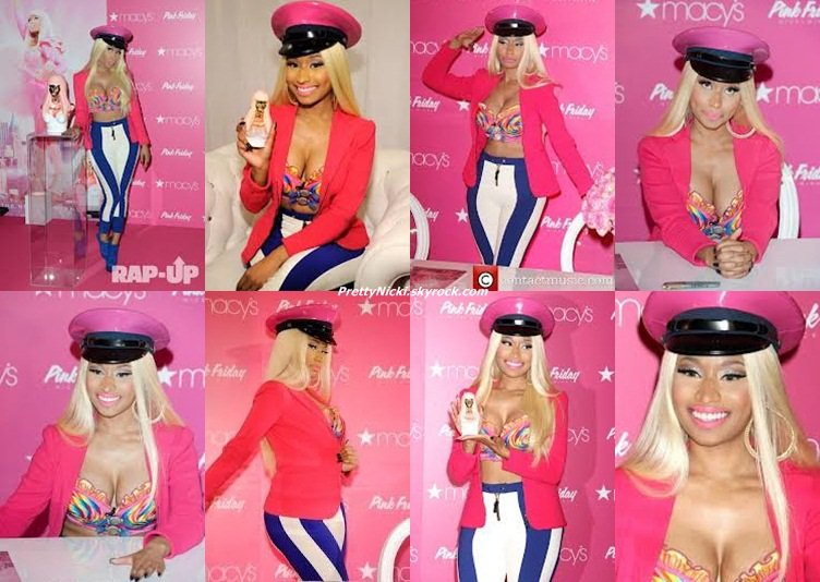 Nicki Minaj à New York chez Macy's