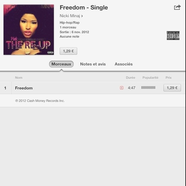 Freedom sur Itunes FR