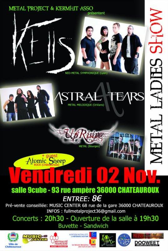KELLS + ASTRAL TEARS à Chateauroux ! Venez nombreux!!!