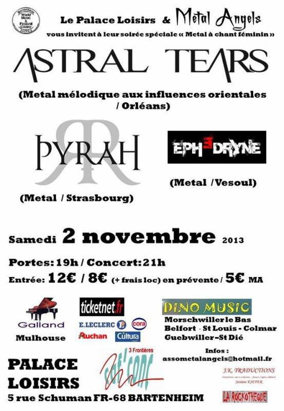 Astral Tears en concert le 2 Novembre dans l'Est!!