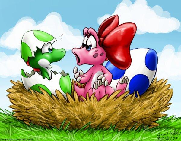 Yoshi et Birdo