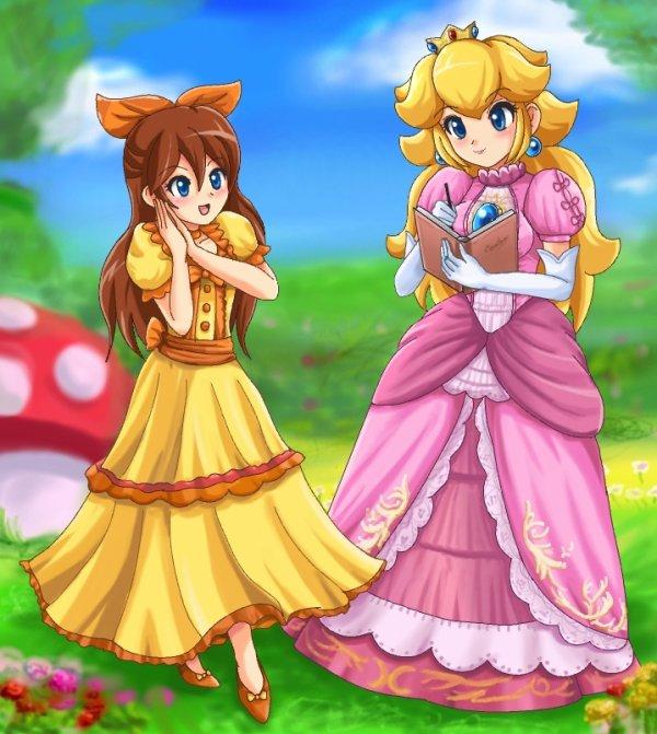 Peach et une fan