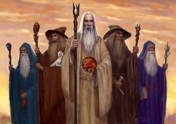 Saruman,Gandalf,Radagast,Alatar et Pallando