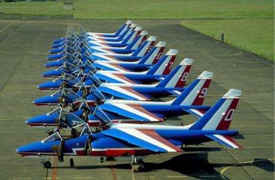 avions de la patrouille de françe:meeting de la ba 116