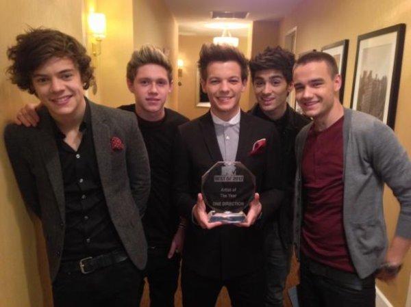 One Direction, meilleurs artistes de l'année selon MTV !