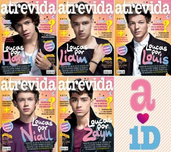 One Direction : Super sexy en couverture du magazine Atrevida