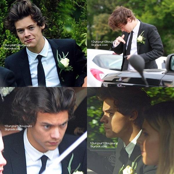 Harry lors du mariage de sa maman Anne à Congleton, dans le Cheshire hier (01/06)