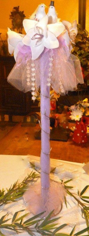centre de table mariage table ronde
